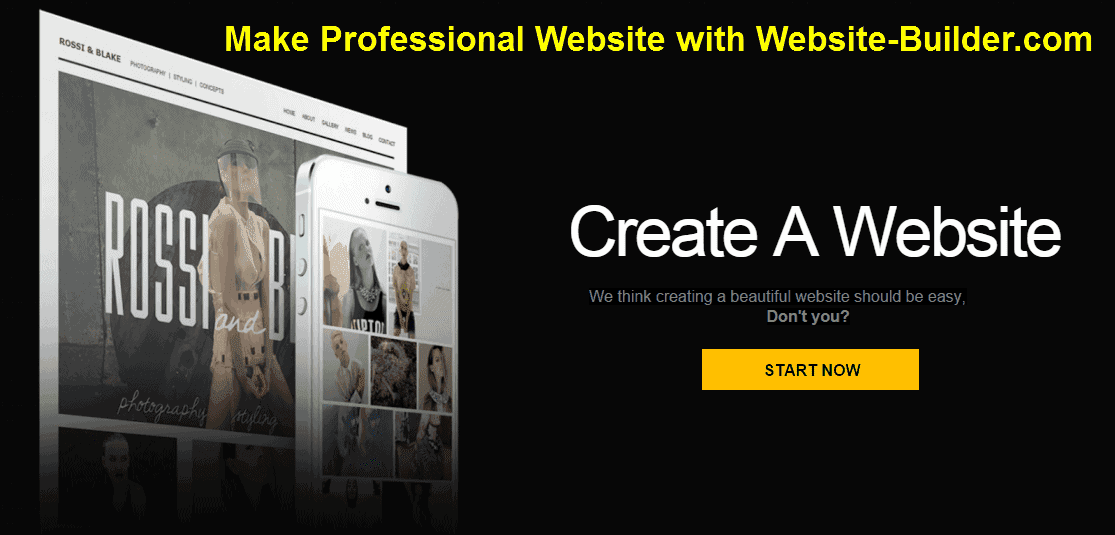 How to Build Professional Website with Website-Builder.com